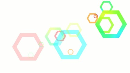 Abstract Geometric Hexagons Loop HD