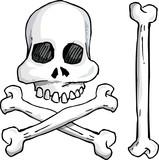 Illustration of skull and crossbones poster