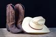 Fototapeten,stiefel,cowboy,chapeau,hintergrund
