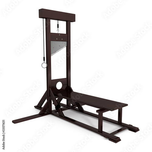 Guillotine isoleted on white