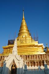 Golden pagoda at Thai temple