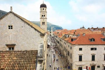 the main street of Dubrovnik