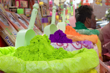 bright Indian colors,Holi festival ,Jaipur,Rajasthan,India