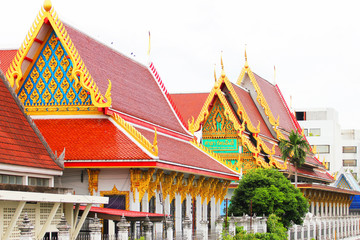 Roof temple in Bangkok, Thailand.