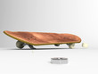 Skate board on a white background