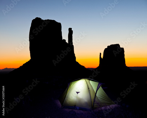 Monument valley in night