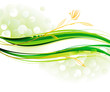 Ecology wave green background.