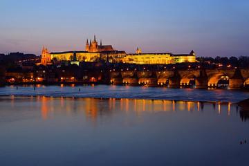 Prag Dom Nacht - Prague cathedral night 03