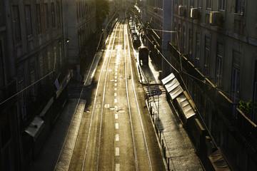 Lisbon downtown street