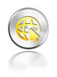button aqua icon web