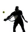 man tennis player backhand