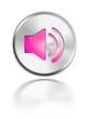 sound lautsprecher button glossy