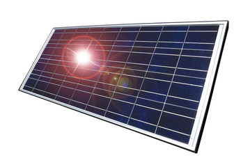 Real solar panel, isolated