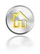 button aqua icon home