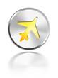 button aqua icon airplane