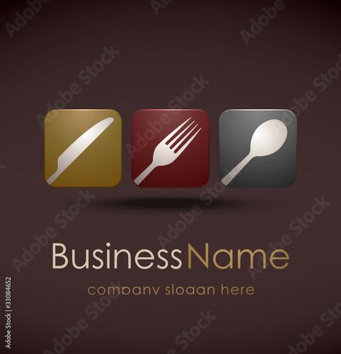 restauracja z logo