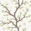 seamless pattern with a silhouette of the tree