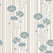 seamless pattern with cornflowers ornament