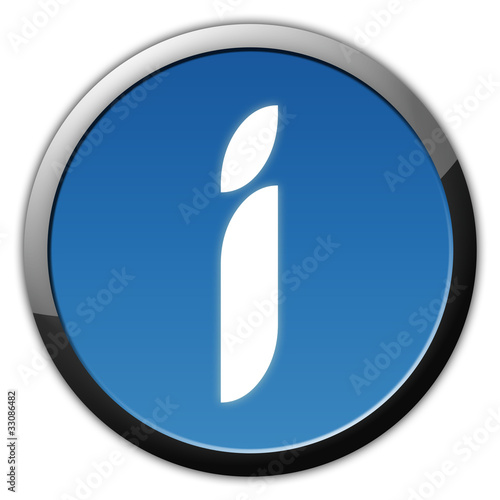 Eleganter Info Button Blau