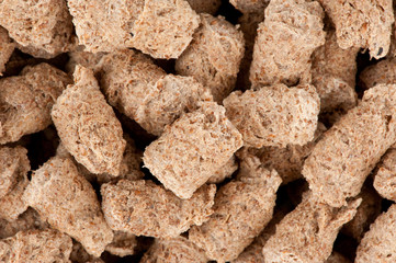Extruded bran close up