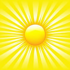 Bright Sunburst With Beams