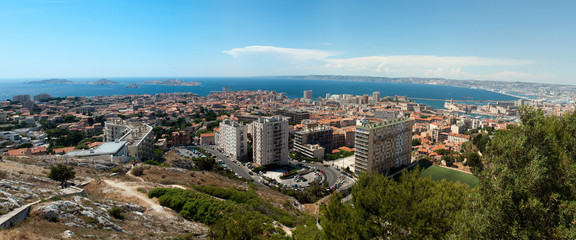 Panorama of Marseille. France.