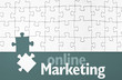 Puzzle mit Online Marketing
