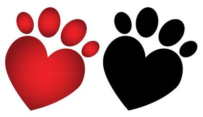 Love paw print_2