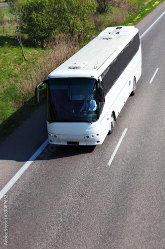 Leinwanddruck Bild Bus travel