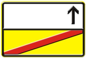 Blanko, Ortsschild, Verkehrszeichen nach StVO