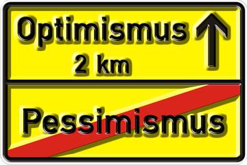 Optimismus, Verkehrszeichen nach StVO