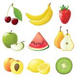 Fototapety fruits icons