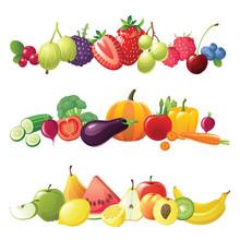 Owoce, warzywa i owoce jagodowe granice