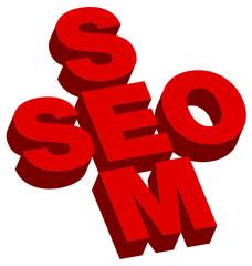 SEO/SEM Red 3D