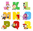 Joyful Cartoon Alphabet Collection 2