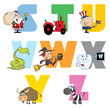Joyful Cartoon Alphabet Collection 3