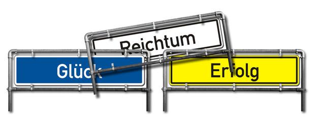 Wegweiser, Verkehrszeichen nach StVO