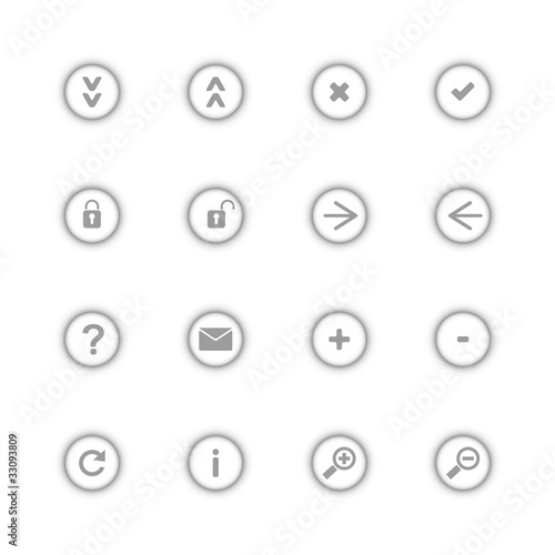 gray icon set