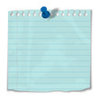 Slip of paper tacked to Notice Board (post it reminder to do)