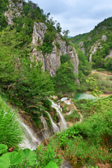 Waterfalls at national park. Plitvice, Croatia