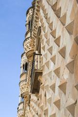 detalle de fachada, palacio del infantado