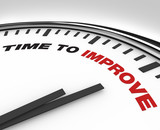 Time to Improve - Clock of Deadline for Plan for Improvement poster