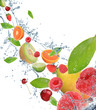 Fresh fruit in motion