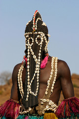 Portrait of a dogon dancer