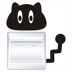 黑猫开关贴