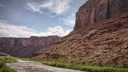 Colorado River Rafting Timelapse near Moab Utah Canyonlands