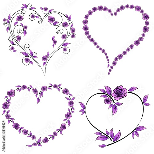 Rose tatuaggio heart and roses tattoo vector bluedarkat 33103429
