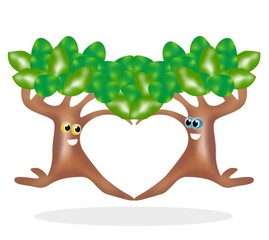 alberi innamorati