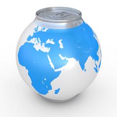 Spherical can of beer