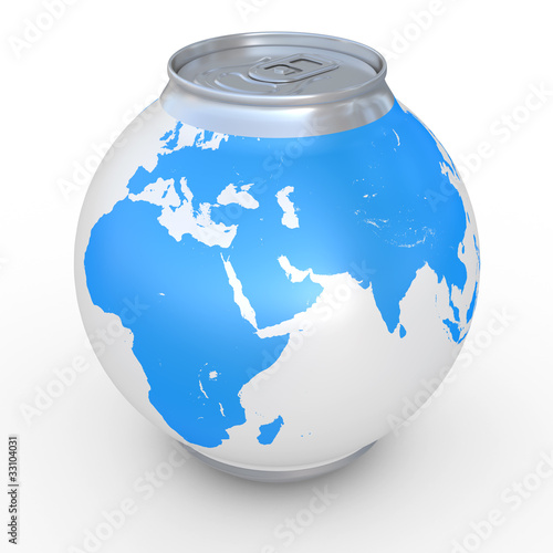 Spherical can of beer